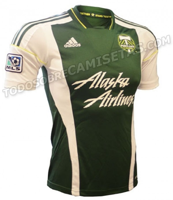 portland home shirt 600x693 Portland Timbers Home and Away Shirts for 2013 Season Leaked [PHOTOS]