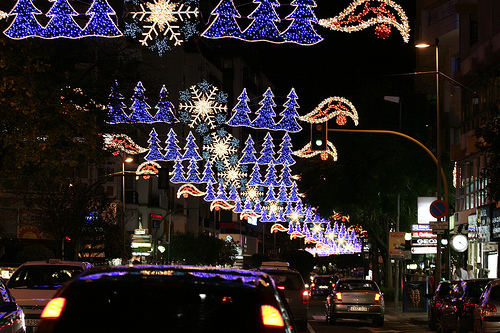 Christmas Decorations in the Center of Marbella, Spain