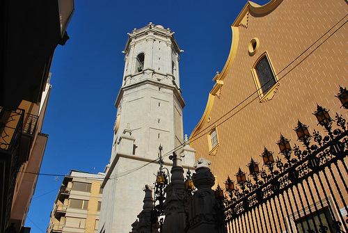 La Iglesia Arciprestal is the focal point in the center of Vila-Real, Spain.