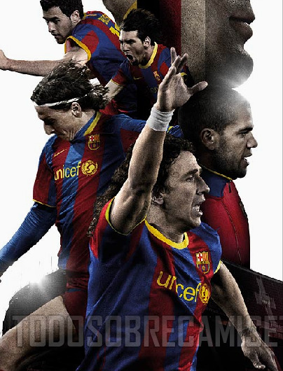 barcelona home shirt 1 Barcelona Home Shirt for 2010 11 Season Revealed: Photo