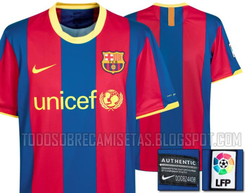 barcelona home shirt Barcelona Home Shirt for 2010 11 Season Revealed: Photo