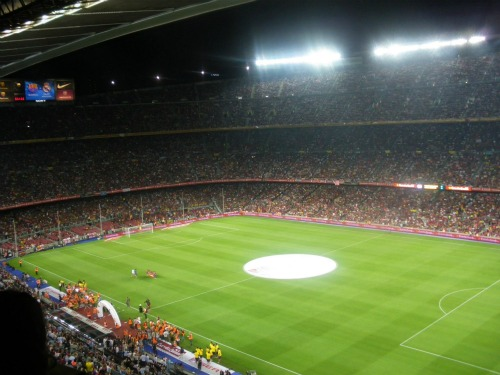 camp nou before kickoff Spanish Super Cup Adventures With ESPN Deportes: Photos