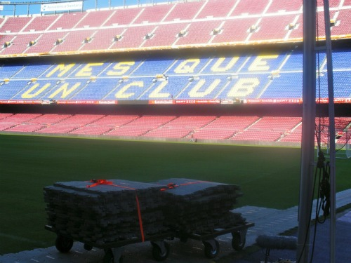 camp nou inside daytime picture Spanish Super Cup Adventures With ESPN Deportes: Photos