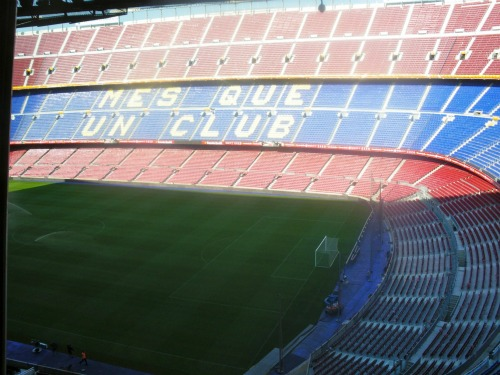camp nou inside daytime Spanish Super Cup Adventures With ESPN Deportes: Photos