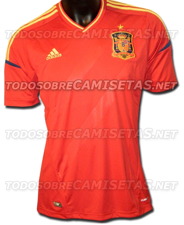 spain home shirt Spain Home Shirt for Euro 2012: Leaked Photo