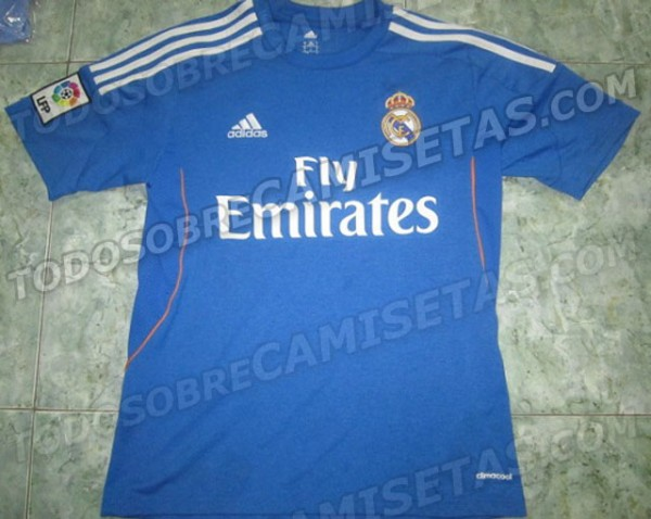 real madrid away shirt 600x478 Is This Real Madrids Away or Third Shirt for the 2013 14 Season? Leaked [PHOTO]
