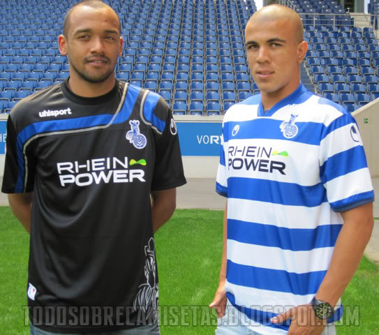 duisburg home away shirts Duisburg Home and Away Shirts for 2010 11 Season: Photos
