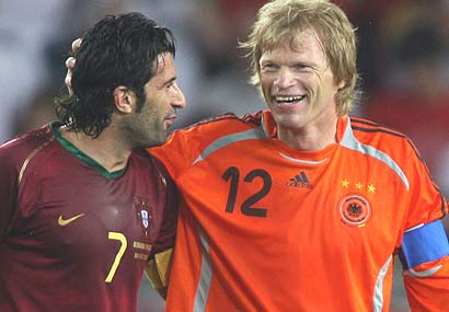 luis figo oliver kahn 2006 Kahn and Figo Retire from International Soccer