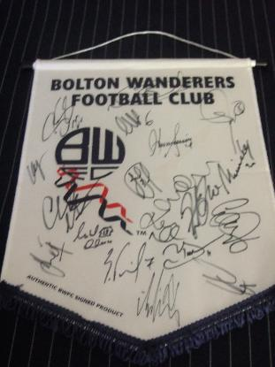 bolton wanderers pennant2 Win an Autographed Bolton Wanderers Pennant