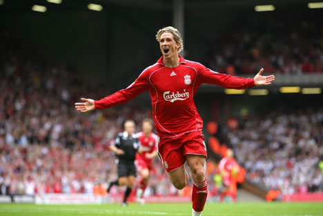 fernando torres Liverpool Beats Inter Milan To Qualify for Final 8