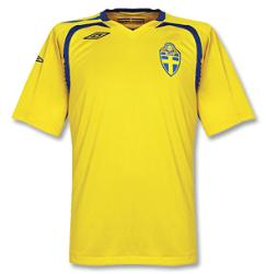 sweden home Euro 2008 Shirts