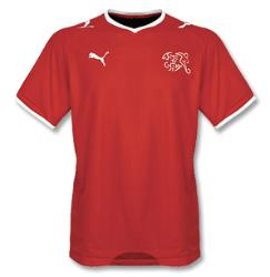 switzerland home Euro 2008 Shirts