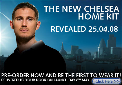 chelsea preview Release Date for 08/09 Chelsea Home Shirt