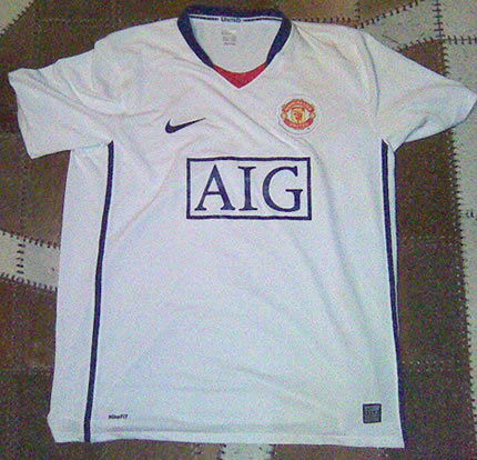 2b5c424b537 New 08 09 Man United Away Shirt Revealed - World Soccer Talk