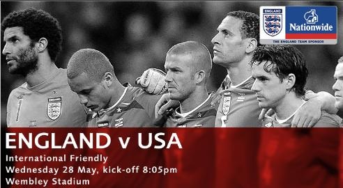 england usa Where To Find The England vs USA Friendly On TV