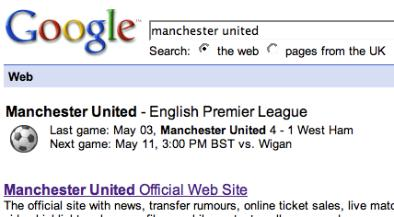 google epl fixtures Google Adds Premier League Fixtures and Results to Search Engine Results Pages