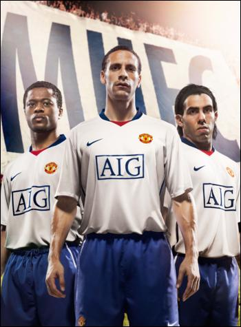 new man utd away shirt New 08/09 Manchester United Away Shirt Photos