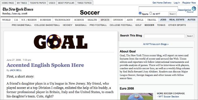 new york times goal column Jack Bell Is A Wanker, Part II