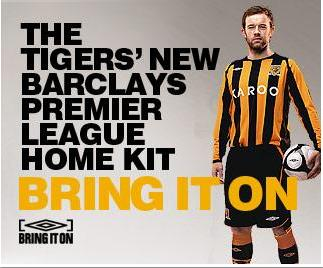 new hull city home shirt New Hull City 08/09 Home Shirt Launched
