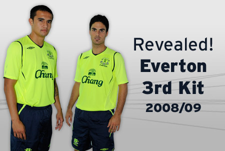 new everton third kit Everton Launches New Third Kit For 2008/2009 Season