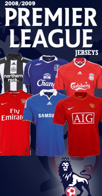 premier league shirts Football Shirts and Football Kits: Widest Selection