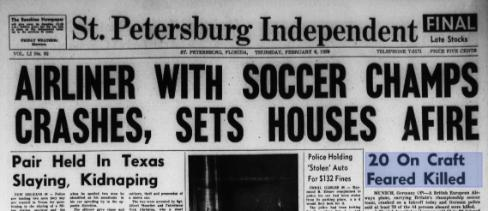 munich air disaster st petersburg times How Small Town America Covered News Of The Munich Air Disaster
