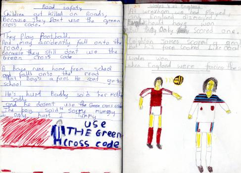 wales 4 1 england Poems And Drawings From a 10 Year Old Soccer Obsessed Boy