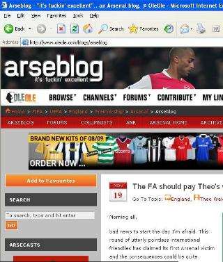 arseblog An Interview With Arseblogger
