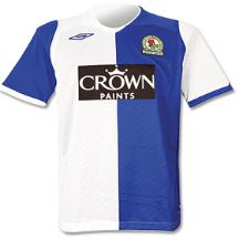 blackburn home shirt 2008 2009 EPL Shirts