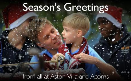 aston villa Christmas Cards From Villa, Blackburn and Everton