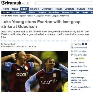The Daily Telegraph struggle to keep up with the transfer window