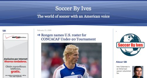 soccer by ives Top 10 Soccer Bloggers