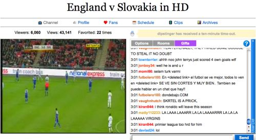 england slovakia justintv Justin.tv Rains On FA & Setantas Parade In Englands 4 0 Win Against Slovakia