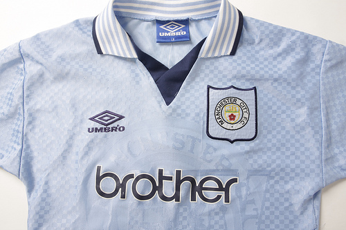 man city home brother Classic Football Shirts From The Umbro Archives