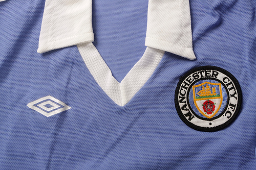 man city home Classic Football Shirts From The Umbro Archives