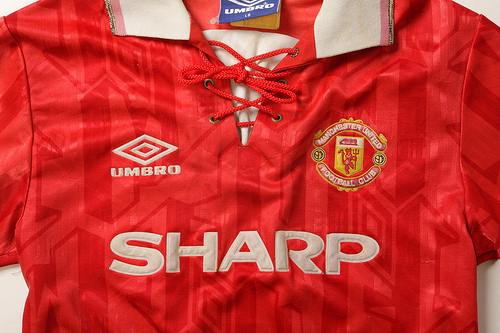 man united home Classic Football Shirts From The Umbro Archives