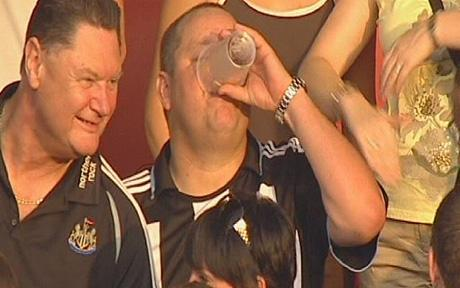 mike ashley drinking pint Mike Ashley Unravels his Business Plan at Newcastle United