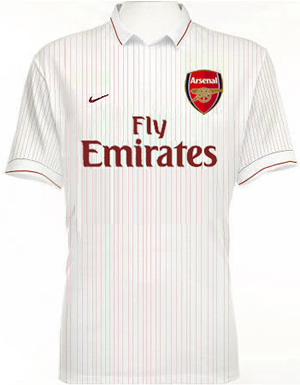 meet 28191 b6166 New Arsenal Away Shirt For 09/10 Season: Revealed - World ...