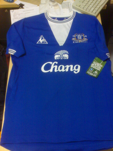 new everton home kit 09 10 Premier League Kits: The Good, The Bad And The Ugly