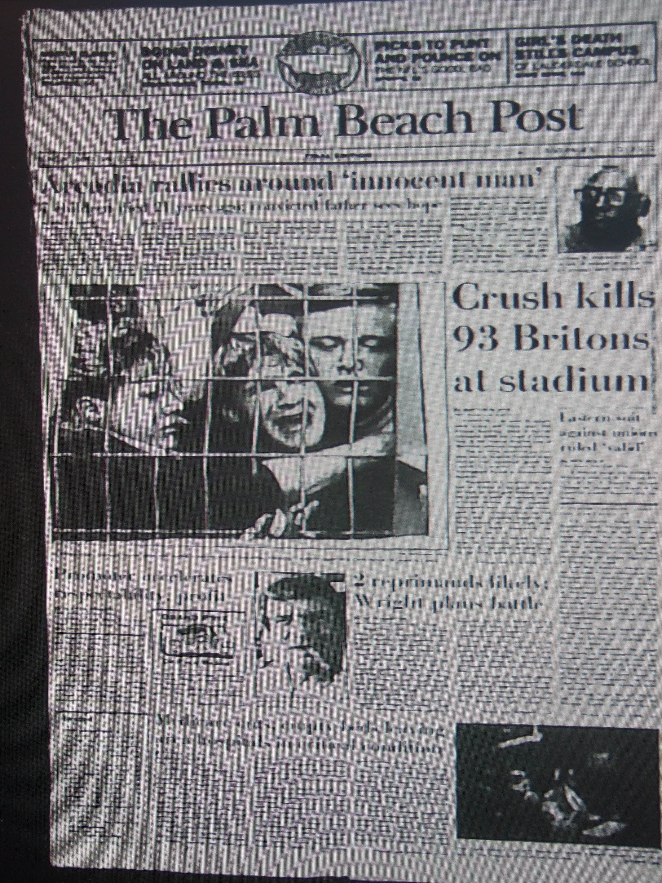 Hillsborough Disaster As Reported By U.S. Newspaper ...