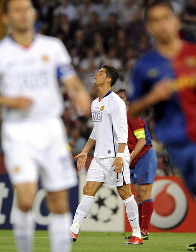 Cristiano Ronaldo scowls to the heavens on a frustrating night for the deposed champions