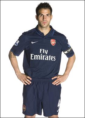 cesc fabregas new arsenal away kit Arsenal Away Kit For 2009/2010: Revealed