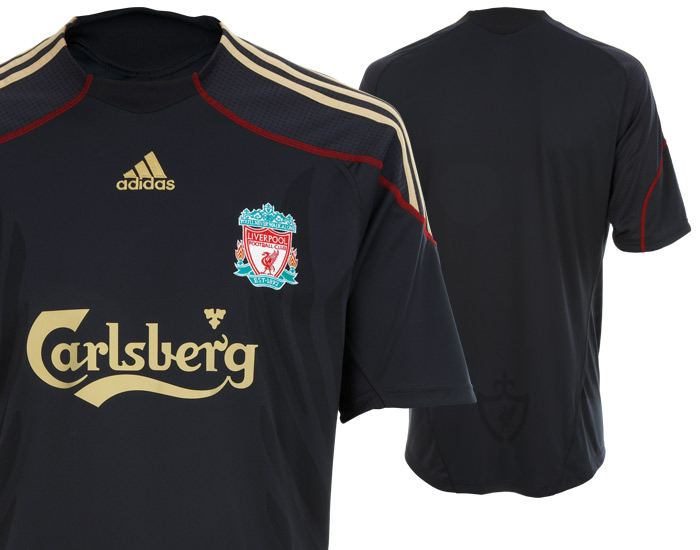 new styles 50847 26419 New Liverpool Away Football Kit For 09/10 Season Revealed ...