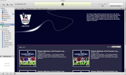 premier league archive itunes Premier League Classic Matches Come To iTunes (UK Only, For Now)
