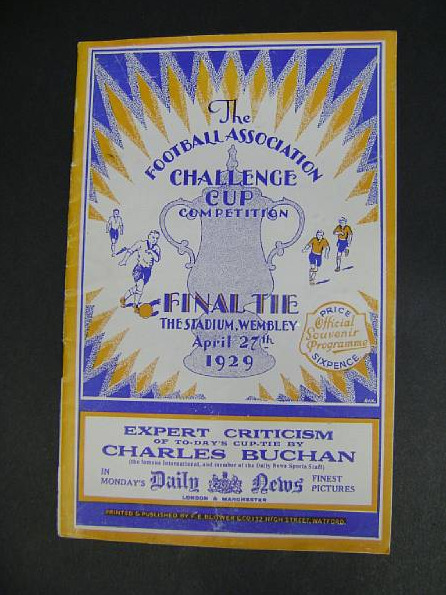 1929 fa cup final programme Rare Football Memorabilia Revealed From Sporting Auction