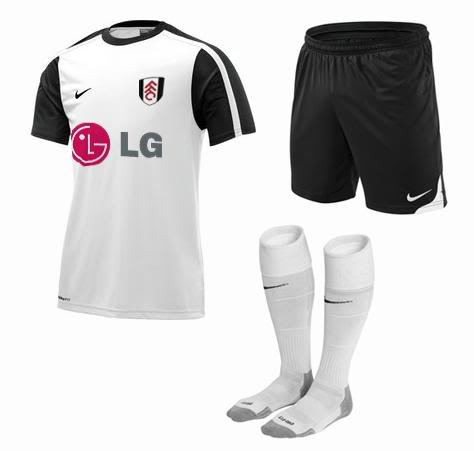 new fulham home kit Fulham Home Kit For 09 10 Season: Revealed