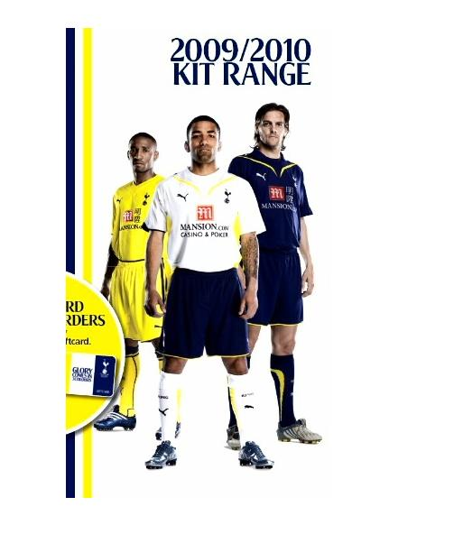 new spurs home away third kits Tottenham Hotspur Home, Away And Third Kits For 09/10 Season