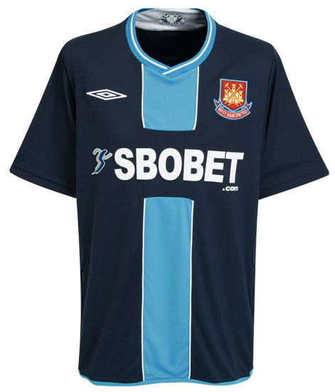 west ham united away 09 10 Premier League Kits: The Good, The Bad And The Ugly