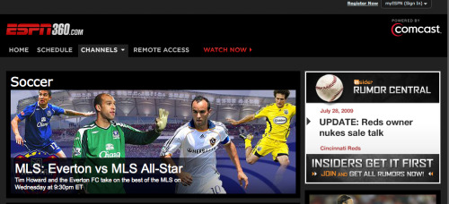 espn360 comcast ESPN360 Now Available To Comcast Customers