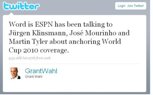grant wahl twitter Could Martin Tyler Be Joining the ESPN 2010 World Cup Team?